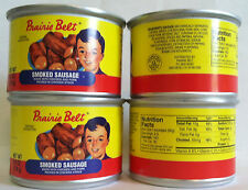 Prairie Belt Smoked Sausage 9.5OZ. Can (4-Cans) Made with Chicken and Pork