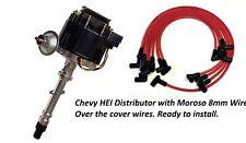 SBC H.E.I HEI Distributor Kit W/ Spark Plug Wires 65k Volts Moroso Over Cover