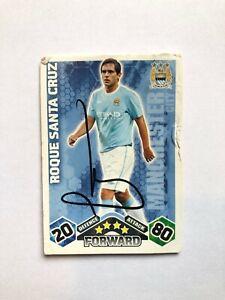 Match Attax 2009/2010 Roque Santa Cruz HAND SIGNED Card Man City Autograph