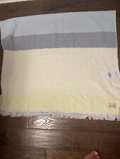"Nwt Ugg Home Collection Napa Beach Towel 40"" X 70"" Blue Yellow Stripe New"