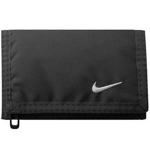 NEW Nike SWOOSH WALLET *BLACK BASIC MENS WOMENS CARD HOLDER MONEY UNISEX DRI FIT