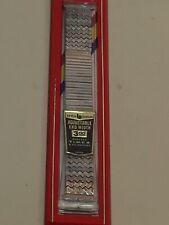 Vintage Brite Bands Adjustable Silver Tone Watch Band Timex Zig Zag design O86