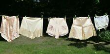 5 Vintage 1940 / 1950 Panties Pin Up Underwear Underpants Ladies Lot Silky Nylon