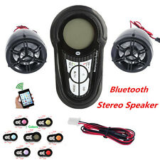 Waterproof Bluetooth Motorcycle Audio Amplifier Stereo Speaker System MP3 USB/SD