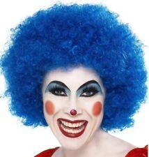 Crazy Payaso Disfraz Azul Peluca Afro NUEVO por Smiffys