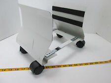 CPU Computer Tower Tray Holder Cart with Wheels Adjustable Portable SKU A S