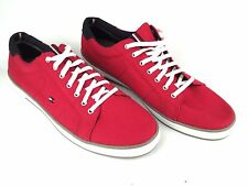 Tommy Hilfiger Sneakers TH ARLOW 1D Sneaker Herren Canvas Rot Red NEW NEU 1020