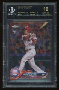 2018 Rhys Hoskins BGS 10 Black Label Topps Chrome Rookie Rc #70 *NICE* POP1 WOW