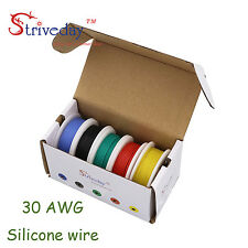 Customized orders :26awg + 30AWG Silicone Wire color Mix box package