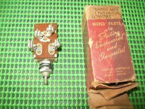 1933 33 Plymouth Dodge NOS MoPar 604095 Headlamp SWITCH