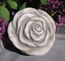 """Shabby Deko """"Rose"""" aus Zement Vintage Landhaus Blume Garten Grabdeko Blume"""