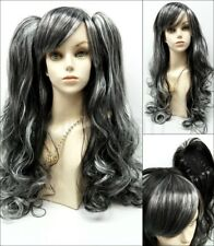"""Harajuku Lolita Style Long Wavy Wig Removable Clip Ponytails Bangs Cosplay 30"""""""