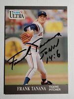 1991 Fleer Ultra Frank Tanana Autograph Card Rangers Tigers Red Sox Auto #128