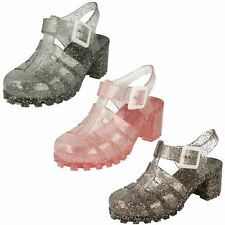 Girls Spot On Glitter Jelly Shoes