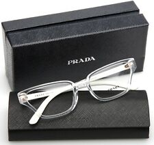 NEW PRADA VPR 04X 2AZ-1O1 CRYSTAL EYEGLASSES GLASSES FRAME 54-18-140 B33mm Italy