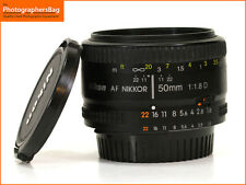 Nikon 50mm F1.8 D Autofocus Prime Nikkor Lens + Free UK Postage