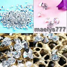 Diamant Confettis Argent 1000pcs x 4mm décoration mariage soirée fêtes .