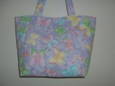 Handmade Butterflies on Light Lavender Background Tote Bag Purse