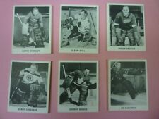 1965-66 Coca-Cola Hockey Shelf Strips Complete Set of 6