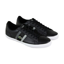 Lacoste Lerond 119 3 CMA Mens Black Leather Lace Up Lifestyle Sneakers Shoes 11
