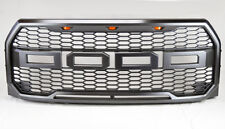 Ford F150 2015+ Raptor Style Sport Mesh Charcoal Grey Front Hood Bumper Grill