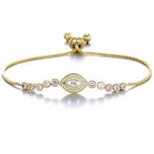 Top Quality Evil eye Charming silver gold women friendship slider bracelet BB248