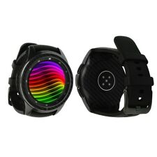 Skinomi Black Carbon Fiber Skin+Screen Protector for Samsung Galaxy Watch 42mm