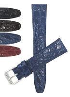 Bandini Watch Band Leather Strap Crocodile Pattern 10mm 12mm 14mm 16mm 18mm 20mm