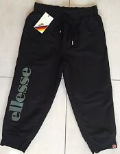 WOMEN'S ELLESSE ORZO CROPPED TRACK PANTS - BLACK ANTHRACITE - SIZE UK 8 **NEW**