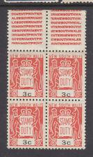 Nsw: 1966 Stamp Duty 3c Muh Block Of 4.