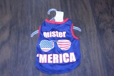 Dog clothing size S Mister America Dog clothing size Small America Dog shirt