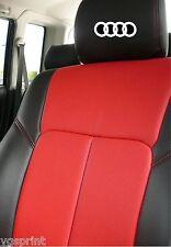 6 x Audi Autositz Kopfstütze Aufkleber Grafik Logo Farbauswahl