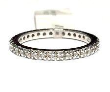 anello veretta eternelle in oro bianco 18 KT diamanti ct 0,21 colore G n 9,5