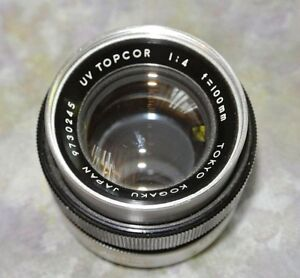 UV Topcor Lens F 4 /100mm Lens  for Topcor  Unirex/100Auto/Uni/IC-1Auto Cameras