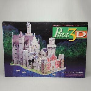 3D Puzzle Puzz3D Alpine Castle Over 1000 Pieces Realistic Design Foam Backed