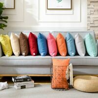 Colorful Linen Throw Pillow Case Sofa Waist Cushion Cover Square Home Decorative