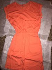 Falls Creek Orange Misses Knit Dress Size S