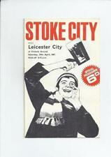 First Division Stoke City Teams S-Z Football Programmes