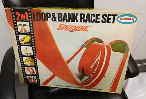Vintage Aurora Loop & Bank Race Set, Speedline, 1968, No Cars