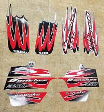 Yamaha banshee full quad sticker graphics decal 10 pieces kit RED/Black ATV