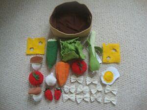 IKEA Duktig fabric Shopping Basket Role Play Food - vegetables & extras