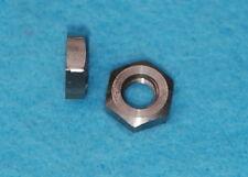 1/4 BSF 26 tpi x10 Stainless Lock  Nuts Semi Polished BSA Triumph Velo Manx