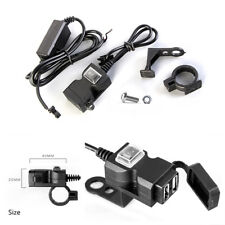 Unique Appearance Motorcycle Dual USB Power Charger Outlet Socket With Switch