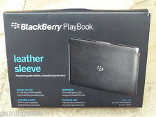 BLACKBERRY PLAYBOOK OFFICIAL RIM LEATHER SLEEVE CARRY CASE - BRAND NEW!! Genuine