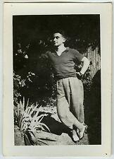 PHOTO ANCIENNE - HOMME ELÉGANT MODE PROFIL GAY - MAN FASHION - Vintage Snapshot