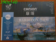 Canson Drawing Watercolor Pad, 20 sheets, 390mmx540mm 4k / 3.2x A4 300gsm 300g