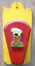 1950'S 1960'S Mid Century Black Americana Chef Knife Wall Storage Holder