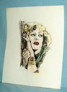 1972 print JOAN CRAWFORD signed x artist magazine cover