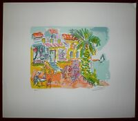 Picot Jean-Claude Lithographie signée United States Belgium, Norway and Aust Art