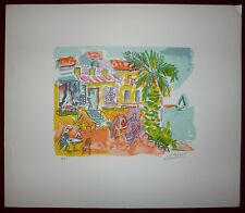 Picot Jean-Claude Lithographie signée United States, Belgium, Norway and AustArt